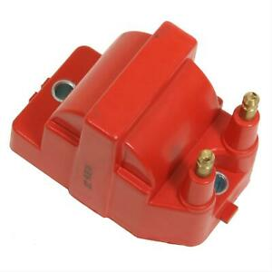 Summit Racing Ignition Coil High Output Square Epoxy 40000 V Red Gm Dis Each