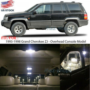 7pcs Xenon White Led Interior Lights Kit For 1993 1998 Jeep Grand Cherokee Zj P
