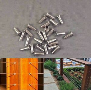 T316 Marine Grade Stainless Steel Protector Sleeves For 1 8 3 16 Cable Railing