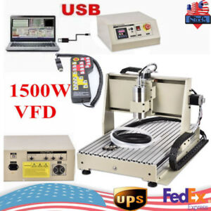 Usb 3axis 6040 Cnc Router Engraver 1 5kw Spindle Mill Cutting Carving Machine rc