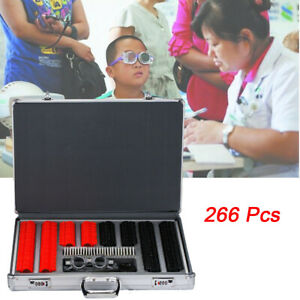 266x Optometry Optical Trial Lens Kit Set W free Trial Frame Glasses Accessories
