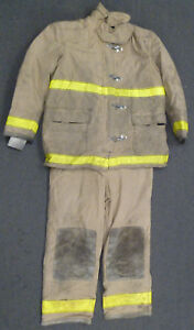 Globe Firefighter Set Jacket 50x35 Pants 42x32 Suspenders Turn Out Gear S28