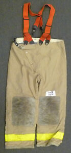 44x30 Globe Firefighter Pants With Suspenders Turnout Bunker Fire Gear P952