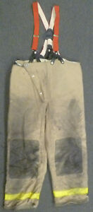 42x30 Globe Firefighter Pants With Suspenders Turnout Bunker Fire Gear P951