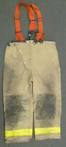 42x30 Globe Firefighter Pants With Suspenders Turnout Bunker Fire Gear P949
