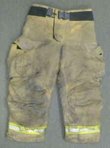 36x30 Globe G xtreme Tan Firefighter Pants Turnout Bunker Fire Gear P050