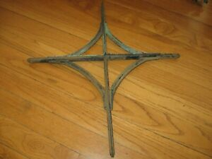 Vintage Lot Of 4 Metal Corner Brackets Hangers Salvaged Barn Hanger Hardware