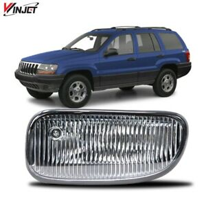 Fit 99 03 Jeep Grand Cherokee Lh Driver Side Fog Light Oe Replacement Clear Lens