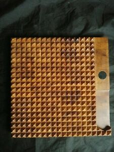 Vintage Mid Century Digsmed Denmark Footed Square Cutting Board Teak