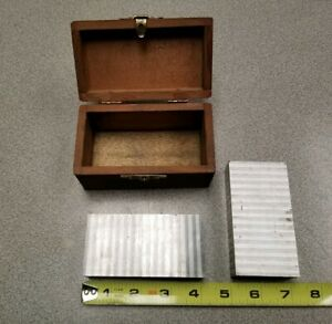 Pair Of Laminated Magnetic Chuck Parallels Micro Tools With Box