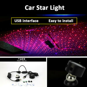 red blue Led Car Roof Interior Lighting Projector Atmosphere Light Ceiling