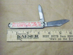 Coca-Cola 3 1/2 Inch 2 Blade Pocket Knife Made in USA