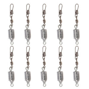 10pcs Drilled Fishing Lead Weights Sinkers Leader Sea Fishing Lead Mould Mold