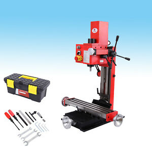 Mini Drilling Milling Machine Base Column Wrench 550w Motor W Emergency Stop