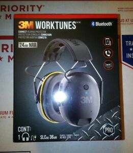 3m Worktunes Connect Hearing Protector Bluetooth Hi fi Sound Ear Muff Headset