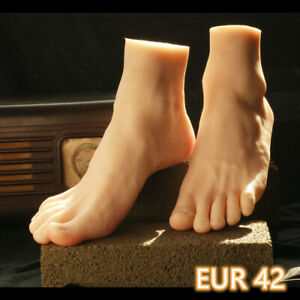 Left Male One Legs Men Or Mannequin Display Lifelike Silicone Right Model Feet