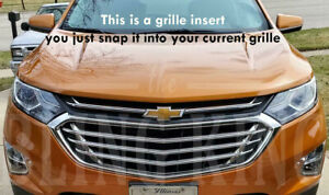 2018 2020 Chevy Equinox Chrome Grille Insert Grill Overlay Trim 3 Pc