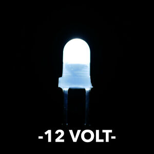 12 Volt 3mm White Led s With White Diffused Lens Pack Of 5