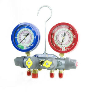 Yellow Jacket 49973 Manifold Only Liquid Gauges Psi R 22 410a F