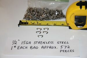 3 Pounds 1 2 Stainless Steel 15ga Hog Rings Made In Usa Free Shipping