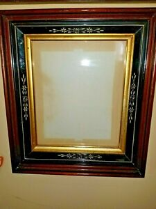 Victorian Eastlake 3 Deep Shadowbox Picture Frame Holds 10 X12 Photo Excellent