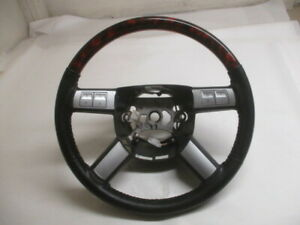 Chrysler 300 Dodge Charger Leather Wood Steering Wheel W audio Control Oem Lkq