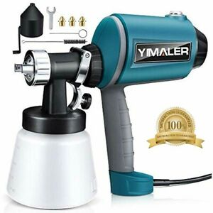 Yimaler Paint Sprayer 450w Airless Spraying Electric Hvlp Gun With 3 Nozzles