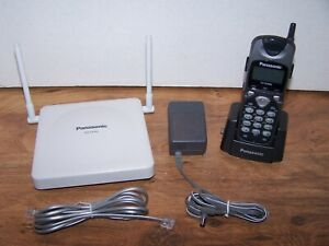 Panasonic Kx td7680 Backlit Lcd Display Cordless System Phone W Cell Station