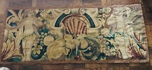 French Tapestry Wall Hanging Antique In Excellent Condition