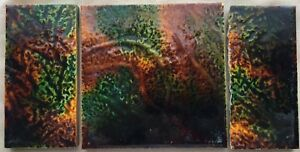Set Of 3 Craven Dunnill Co Ceramic Art Tiles Jackfield