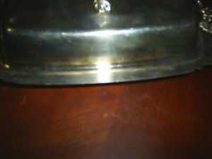 Baroque Wallace Silver Plate Vintage Butter Dish With Glass Liner Tarnished