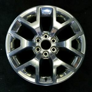 20 Inch Gmc Sierra 1500 Pickup 2015 2018 Polished Oem Factory Wheel Rim 5698