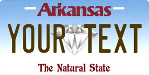 Personalized Arkansas State Custom Any Text Aluminum License Plate With Frame