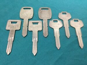 Saturn Subaru Nissan By Curtis Automotive Key Blanks Set Of 7 Locksmith