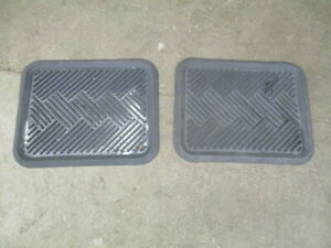 Aftermarket Pair Rear Rubber Floor Mats For 2005 Corolla