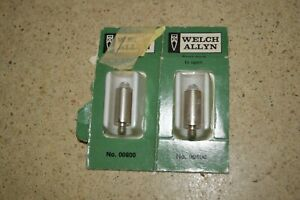 Welch Allyn No 00800 Vacuum Lamp Bulbs 2 Total New oem hh