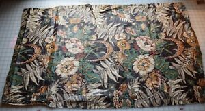 7160 Large Piece Antique 1810 20 S Floral Chintz Polished Cotton Ferns Flowers