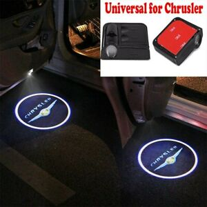 2x For Chrysler Wireless Led Car Door Logo Shadow Welcome Light Projector Us