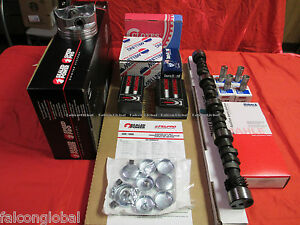 Chevy 350 Master Rebuild Engine Kit Flat Pistons stage 1 Cam Double Roller Chain
