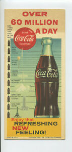 Coca Cola Original Ink Blotter 60 Million A Day 1960 Vintage Coke Free Shipping