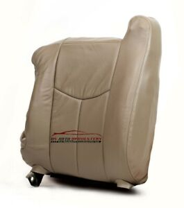 2003 Chevy Tahoe Suburban Heated Power Leather Passenger Bottom Seat Cover Tan