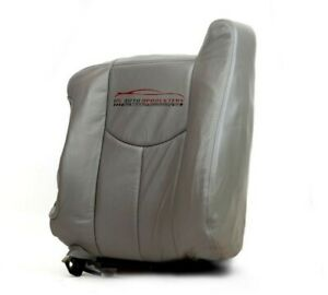 2005 Chevy Tahoe Z71 Driver Leather Bottom Heated Power Seat Cover Pewter Gray