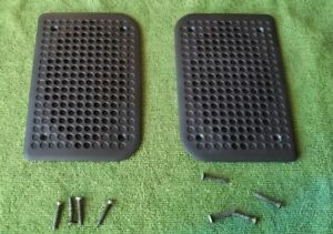 Original Porsche 924 944 Door Speaker Cover Set 2 Black