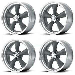 16x8 Gunmetal Lip Wheels American Racing Vn215 Classic Torq Thrust 1 Pc 5x4 75 5
