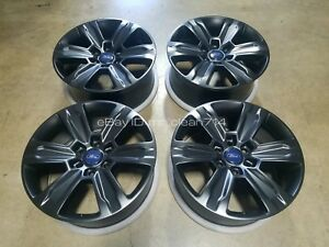 20 15 18 Ford F150 Platinum Fx4 Black Wheels Rims Oem Factory 10004 17 Lariat