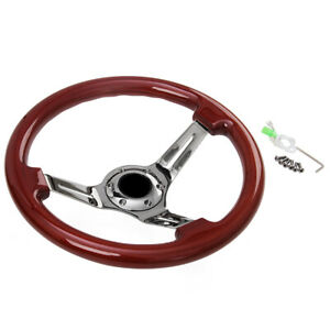 350mm 14inch Universal Classic Steering Wheel Wood 6 Hole New