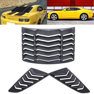 Matte Black Rear Quarter Side Scoop Window Louver Cover For Chevy Camaro 10 15