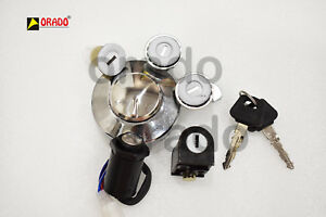 Royal Enfield Fuel Tank Cap Steering Tool Box Lock Kit And Ignition Switch ma