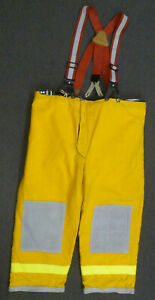 50x30 Janesville Firefighter Pants Turnout Bunker Fire Gear W Suspenders P006