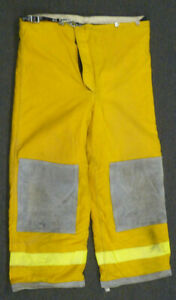 38x28 Janesville Pants Firefighter Turnout Bunker Fire Gear W Liner P998